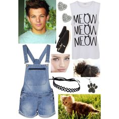 """have a kitten with Louis"" by caroline-lannoy on Polyvore"