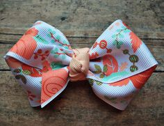 Floral peach pink gold mint Large double loop Bow headband | flowers | vintage | eligant | seafoam | teal by ShopSassyBabes on Etsy https://www.etsy.com/listing/249578738/floral-peach-pink-gold-mint-large-double