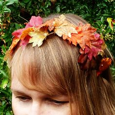 Follow my step by step instructions on how to make a professional looking  autumn leaf headband a1166e832ea