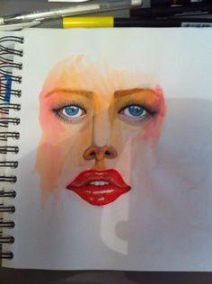 Portrait aquarelle