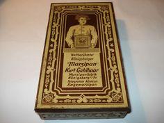 Antike Blechdose Königsberger Marzipan Königsberg Preussen Kurt Gelhaar Dose alt
