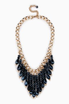 Fayette Necklace in Blue / ShopSosie #shopsosie #sosie