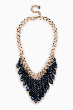 Fayette Necklace in Blue / ShopSosie #shopsosie #sosie