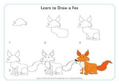 Learn to draw a fox