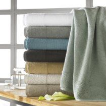 CassaDecor Set of 6 Combed Organic Cotton Bath Towels, 2 Hand Towels, 2 Wash Cloths) - Naturel By Kassatex, Steel Bath Towel Sets, Bath Towels, Bath Mat, Monogram Towels, How To Fold Towels, Natural Bathroom, Linens And More, Luxury Towels, Marseille