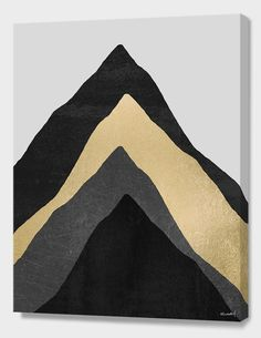 """""""Four Mountains / Gold"""", Numbered Edition Canvas Print by Elisabeth Fredriksson - From $69.00 - Curioos"""