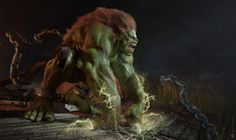 3D Rendition of Street Fighter's Blanka