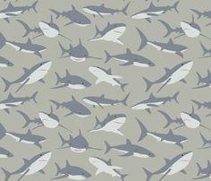 Sharks  (fattcheese)  http://www.spoonflower.com/fabric/688665#