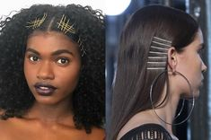 Updated your look with pretty headbands, scarves, dainty barrettes, strategically placed bobbi pins, and more. Natural Hair Styles, Short Hair Styles, Afro, Bobby Pin Hairstyles, Spring Hairstyles, Hair Inspo, Bobby Pins, Headbands, Black Women