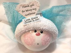 Baptism Gifts Christmas Ornaments Angel Christening Thank You