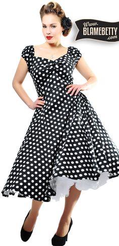 Pretty in polka dots <3 #blamebetty #polkadot #rockabella
