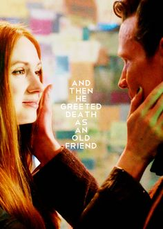 There was something I read on Tumblr, where someone related the 9th, 10th, and 11th doctors to the brothers in the Deathly Hallows story. 9 died for power, 10 died for love, and 11 greeted death as an old friend. :D Ahhhhh