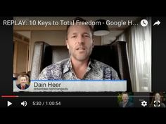 REPLAY: 10 Keys to Total Freedom - Google Hangout Series with Dr. Dain Heer