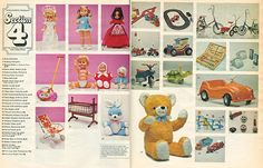 some typical pages from the Christmas Catalogues of 1973 and 1975