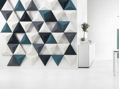 Pannello divisorio fonoassorbente modulare AIRCONE by Abstracta design Stefan Borselius