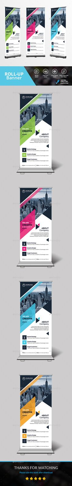 Roll Up Banner - Signage Print Templates Download here: https://graphicriver.net/item/roll-up-banner/19479561?https://graphicriver.net/item/corporate-rollup-banner/19383696?ref=classicdesignp