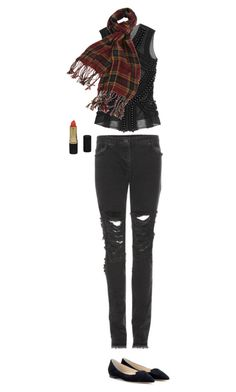 """""""Untitled #5009"""" by dreamer-in-paris ❤ liked on Polyvore featuring Balmain, Christopher Kane, Jimmy Choo, Forever 21 and Revlon"""