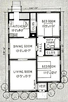 The Bellewood is another happy combination of a well laid out floor plan with a modern exterior Sears Modern Homes catalog). Little House Plans, Dream House Plans, Small House Plans, Little Houses, House Floor Plans, Tiny Houses, Compact House, Vintage House Plans, Cottage Plan