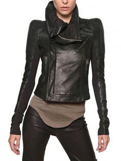ME+&+the+RICK+OWENS+leather+jackket