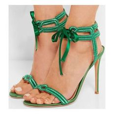 Roman Silk Straps Stiletto Heel Open-toe Ankle Strap High Heels Sandals Bow design makes you look cute, it is a Highlight of these shoes. Ankle Strap High Heels, Platform High Heels, Lace Up Heels, Ankle Straps, High Shoes, Women's Shoes, Dress Shoes, Golf Shoes, Stilettos