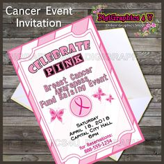 Breast Cancer Awareness Flyer Event Poster Invitation By