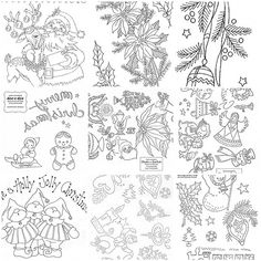 embroidery patterns free | Christmas Embroidery Transfer , 2. Vintage Christmas Embroidery ...
