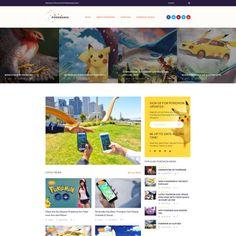 Pokemania - Game Portal Pokemon Responsive WordPress Template