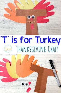 Totally Free 'T' is for Turkey Thanksgiving Craft Suggestions 'T' is for Turkey Thanksgiving Craft Excellent Totally Free 'T' is for Turkey Thanksgiving Craft Suggestions 'T' is for Turkey Thanksgiving Craft Handprint Turkey Craft Thanksgiving Crafts For Toddlers, Thanksgiving Art, Thanksgiving Crafts For Kids, Thanksgiving Activities, Autumn Activities, Thanksgiving Craft Kindergarten, Activities For 1 Year Olds, Crafts For 2 Year Olds, Preschool Activities