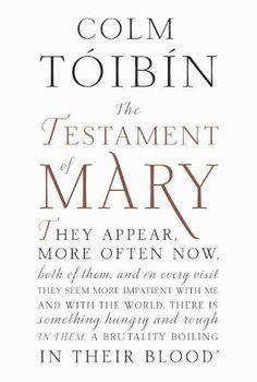 The Testament of Mary by Colm Toibin, http://www.amazon.ca/dp/B008ADBWTC/ref=cm_sw_r_pi_dp_-ec8sb0ZVJS2J