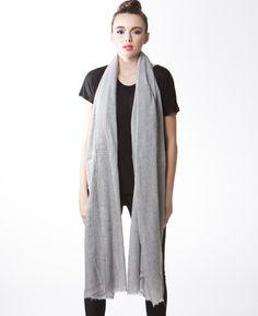 Lily rain : Grey Super Sized Soft Cashmere Scarf