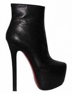 TAMARA Leather Platform Ankle Boots