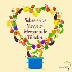 Sebzeleri ve Meyveleri Mevsiminde Tüketin!!!  Yazın en bol ve en lezzetli olan meyveler Ağustos ayında çıkmaktadır. Ağustos ayı boyunca mümkün olduğunca mürdüm eriği, üzüm, kırmızı erik, kayısı, incir, şeftali, kavun, karpuz, vişne, sarı kiraz, böğürtlen gibi taze meyvelere soframızda yer verelim.  #VerdeSağlık #SebzeMeyve #SağlıklıYaşam