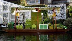 IKEA's Floating Market Place - Colorful Displays, Gondolas