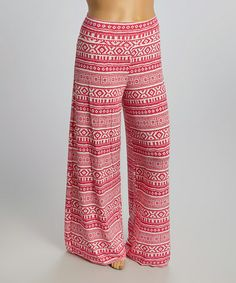 Pink Tribal Palazzo Pants - Plus #zulily #zulilyfinds