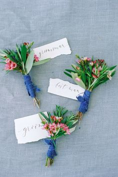 Beautiful shades of bright blue, colorful blooms and a fun octopus motif; a rustic elegant wedding with a dash of fabulous fun! Succulent Boutonniere, Corsage And Boutonniere, Groom Boutonniere, Whimsical Wedding, Chic Wedding, Floral Wedding, Wedding Colors, Corsage Wedding, Flower Bouquet Wedding