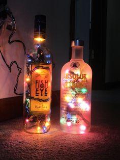 Wine and Liquor Bottle Lamps. $15.00, via Etsy.