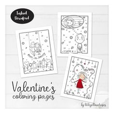 Valentine's Day Coloring Pages, Love Coloring Papers, Valentine Games Activities For Kids, Sheets To Valentines Anime, Valentines Day Drawing, Valentines Balloons, Valentines Games, Christmas Activities, Activities For Kids, Valantine Day, Valentines Day Coloring Page, Portrait Cartoon