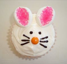 Easter bunny cupcakes by llea