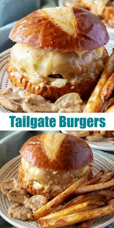 Get ready for game day with the best ever grilled burger recipe, these 'Knock Your Socks Off' Tailgate Burgers. Trust me, they're gonna completely bowl you over with how amazing they are- appetizer, lunch, dinner- they'll be the main event wherever they'r Burger Dogs, My Burger, Good Burger, Burger On Grill, Burger Cake, Oven Burgers, Grilling Burgers, Hamburger Recipes, Beef Recipes