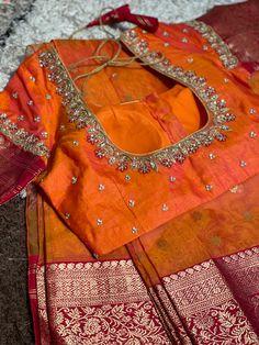 Pattu Saree Blouse Designs, Fancy Blouse Designs, Bridal Blouse Designs, Kids Lehanga, Diwali Food, Maggam Work Designs, Long Dress Design, Hand Work Blouse Design, Embroidery Neck Designs