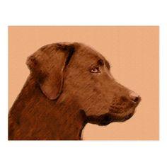 #Labrador Retriever (Chocolate) Postcard - #labrador #retriever #puppy #labradors #dog #dogs #pet #pets