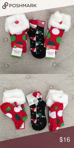 Holiday Socks (set of 3) Brand-new with tag. Set of three beautiful holiday socks. Perfect for Christmas and the winter. Knee-high socks and ankle socks shown wonderful additional savings, offers considered. Accessories Hosiery & Socks
