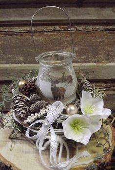 Adventskranz - Adventskranz,Kranz mit Teelicht,shabby,nostalgie - ein Designerstück von die-mit-den-blumen-tanzt bei DaWanda