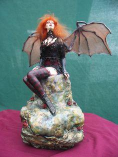 Sondrine, Gargoyle Girl by Rebecca Schumacher - Fantasy art galleries at Epilogue.net - Fantasy and Sci-fi at their best
