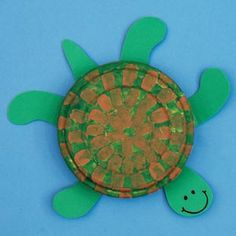 My class is going to make this, except just the shell (plate) and then we'll attach string on 2 opposite sides of the plate so they can wear a turtle shell and crawl around like a turtle!