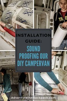Sound Proofing our DIY Camper Van decreased the road noise and rattling of the van. This tutorial shows you how to sound proof a campervan using Rattle Trap sound dampener. Cargo Van Conversion, Sprinter Conversion, Camper Van Conversion Diy, Build A Camper Van, Camper Van Life, Diy Camper, Camper Beds, Sprinter Van, Mercedes Sprinter
