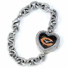 NFL Ladies Chicago Bears Heart Face Watch Link Bracelet Sports Fashion Accessory Jewelry by NFL. $78.99. Description Manufacturer: GAME TIME Item Dimensions: 8.5 L 1.3 W 0.2 H Shipping Dimensions: 3.4 L 4.6 W 3.3 H  Features: Designed for Ladies Official team logo and colors Stainless Steel bracelet Rhinestone case with stainless steel back Miyota(reg.) Quartz movement Water resistant to 3 ATM (99 ft) Limited lifetime warranty