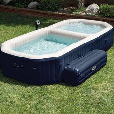 Intex PureSpa Bubble Hot Tub and Pool Combo #HotTub, #Pool, #Spa Intex Hot Tub, Spa Intex, Jacuzzi Bathtub, Intex Pool, Whirlpool Bathtub, Jacuzzi 6 Places, Stock Tank Pool, Mini Pool, Home Decor
