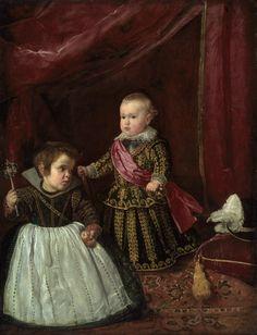 Don Baltasar Carlos with a Dwarf, 1632, Diego Velazquez. Spanish Baroque Era Painter (1599 - 1660)