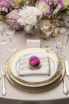 Vajillas para boda 2015: Montajes de mesa que transformarán la estética de un día tan especial Image: 17